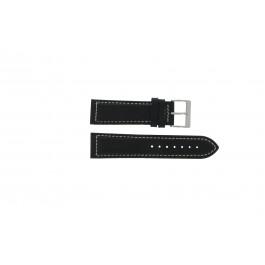 Correa de reloj Davis BB0450 / BB0454 Cuero Negro 24mm