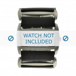 Correa de reloj Davis 0751 Cuero Negro 36mm