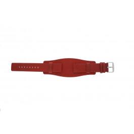 Correa de reloj Universal B0223 Cuero Rojo 20mm