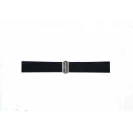 Correa de reloj Davis BB0881 Caucho Negro 22mm