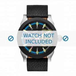 Diesel correa de reloj DZ1677 Cuero Negro 24mm
