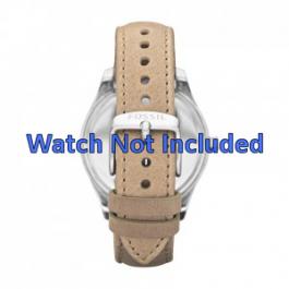 Correa de reloj Fossil ES2997 Cuero Beige 18mm