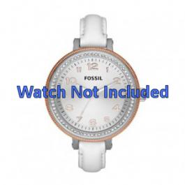 Correa de reloj Fossil AM4362 Cuero Blanco 16mm