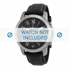 Correa de reloj Fossil FS4812IE Cuero Negro 22mm