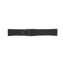 Correa de reloj Fossil FS4552 Acero Negro 24mm