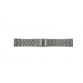 Correa de reloj Fossil FS4662 / 12XXXX / 25XXXX Acero Gris antracita 24mm