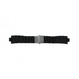 Guess correa de reloj I15056L1 / I11040L1 / I11005G2  Caucho / plástico Negro 22mm