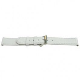 Correa de reloj Universal C500 Cuero Blanco 12mm