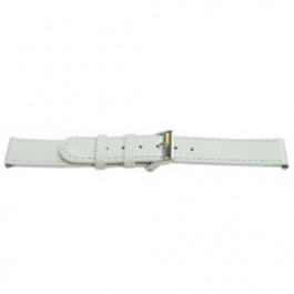 Correa de reloj Universal E500 Cuero Blanco 16mm