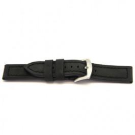Correa de reloj Universal H103 Cuero Negro 22mm