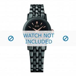 Hugo Boss correa de reloj HB-194-3-34-2550 / HB1502343 Metal Negro