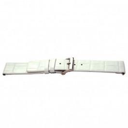 Correa de reloj Universal I520 Piel de cocodrilo Blanco 24mm