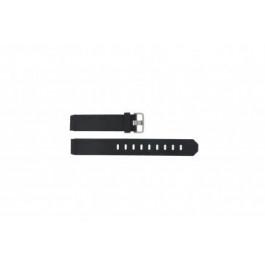 Correa de reloj Jacob Jensen 732 / 742 / 640 / 641 / 660 / 662 / 680 / 681 Caucho Negro 17mm