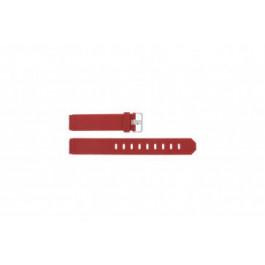 Correa de reloj Jacob Jensen 700 / 751 / 756 / 761 / 766 Caucho Rojo 17mm