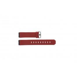 Correa de reloj Jacob Jensen 800 Series Cuero Rojo 17mm