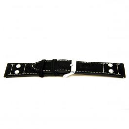 Correa de reloj Universal I167 Cuero Negro 24mm