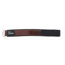Correa de reloj Condor KLITTENBAND 412R bruin (donker) Velcro Marrón 20mm