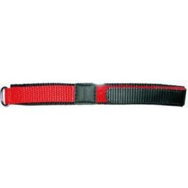 Correa de reloj Universal KLITTENBAND 412R Velcro Rojo 20mm