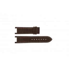 Correa de reloj Guess GC41501G / 145003G1 / I50001G1 Cuero Marrón oscuro 12.8mm