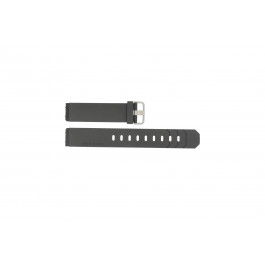 Correa de reloj Jacob Jensen 600 / 800 / 601 / 602 / 702 Caucho Negro 19mm