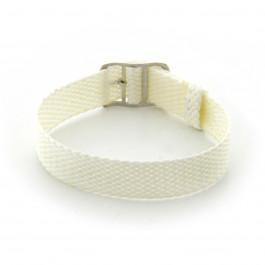 Correa de reloj Universal PRLN.16.W Nylon/perlón Blanco 16mm
