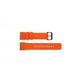 Correa de reloj Pulsar W861-X006 / PQ2013X1 / PP102X Caucho Naranja 24mm