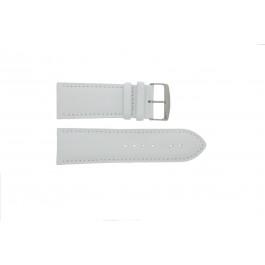 Correa de reloj Universal 306.09 Cuero Blanco 32mm