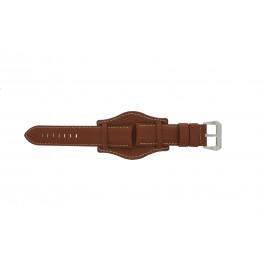 Correa de reloj Universal 386.08.20 Cuero Marrón 20mm
