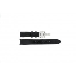 Correa de reloj Seiko 6G34-00E0 / SRL021P1 Cuero Negro 21mm