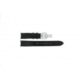 Seiko correa de reloj SNA741P2 / 7T62-0GE0 Cuero Negro 22mm + costura negro