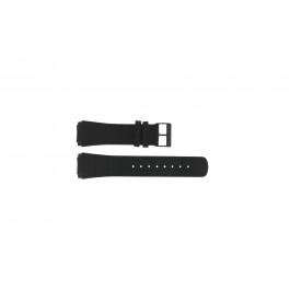 Correa de reloj Skagen 856XLBLB Piel de cocodrilo Negro 23mm
