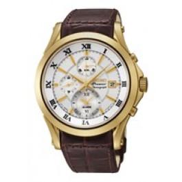 Correa de reloj Seiko 7T62-0JW0 / SNAF22P1 / 4A071KL Cuero Marrón 21mm