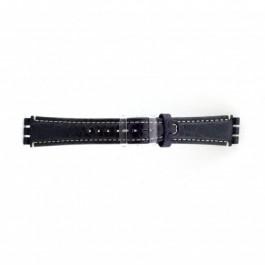 Correa de reloj Swatch (alt.) ES.IRON-2.05 Cuero Azul 19mm