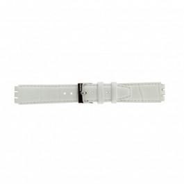 Correa de reloj Swatch (alt.) 21414.11 Cuero Blanco 17mm