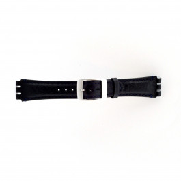 Correa de reloj Swatch (alt.) SC14.05 Cuero Azul 19mm