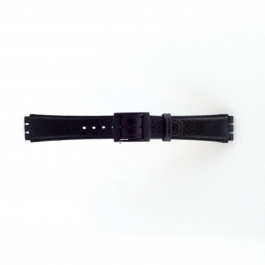 Correa de reloj Swatch (alt.) SC04.01 Cuero Negro 17mm