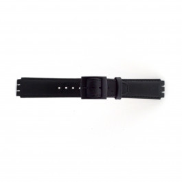Correa de reloj Swatch (alt.) SC11.01 Cuero Negro 17mm