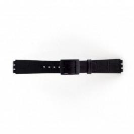 Correa de reloj Swatch SC16.01 Cuero Negro 16mm