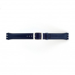 Correa de reloj Swatch (alt.) 51643.06.MB Cuero Azul 19mm