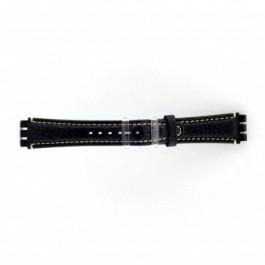 Correa de reloj Swatch (alt.) ES.IRON-3.05 Cuero Azul 19mm
