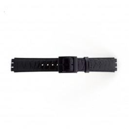 Correa de reloj Swatch (alt.) SC10.01 Cuero Negro 17mm