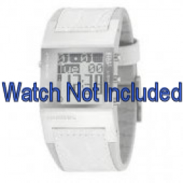 Correa de reloj Diesel DZ7043 Cuero Blanco 24mm