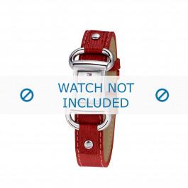 Tommy Hilfiger correa de reloj TH-09-3-14-0613 / TH679300818 / TH1780621 Cuero Rojo + costura roja