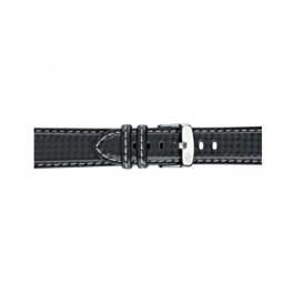 Morellato correa de reloj Biking U3586977891CR22 / PMU891BIKING22 Carbono Negro 22mm + costura gris