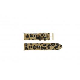 Guess correa de reloj W16574L1 Cuero Leopardo 20mm