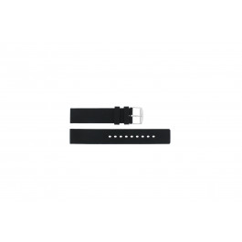 Correa de reloj Universal 21901.10.18 / 6826 / 5833.01.18 Silicona Negro 18mm