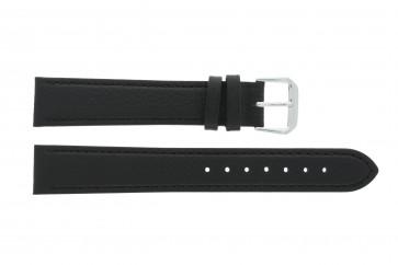 Correa de reloj de cuero genuino negra 10mm 054