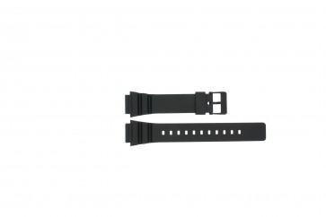 Casio correa de reloj MRW-200h / 10393907 Caucho Negro 18mm