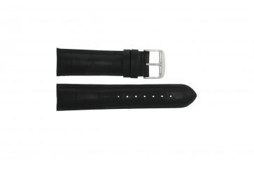 Correa de reloj Universal 285R.01 Cuero Negro 22mm