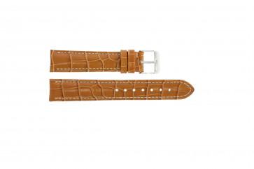 Correa de reloj de cuero genuino tipo cocdrilo marrón claro 20mm PVK-285